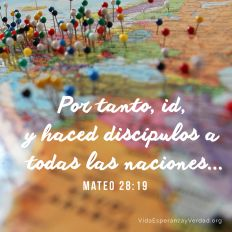 Por tanto, id, y haced discípulos a todas las naciones, bautizándolos en el nombre del Padre, y del Hijo, y del Espíritu Santo.