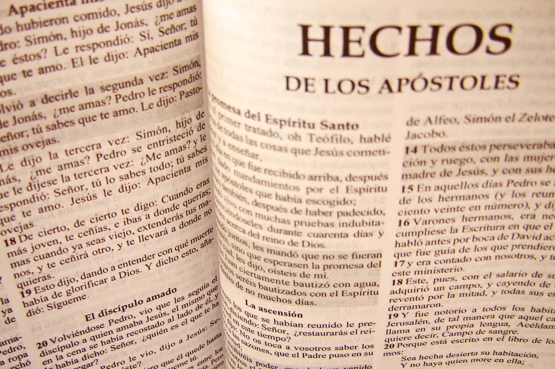 Hechos de los apóstoles - Vida, Esperanza y Verdad